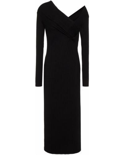 Трикотажное платье миди - черное Enza Costa