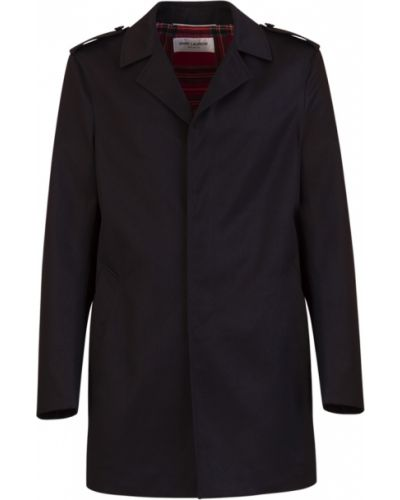 Bawełna bawełna jednorzędowy płaszcz Saint Laurent