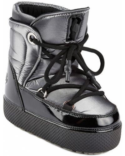 Кожаные луноходы на шнуровке с подкладкой Jog Dog