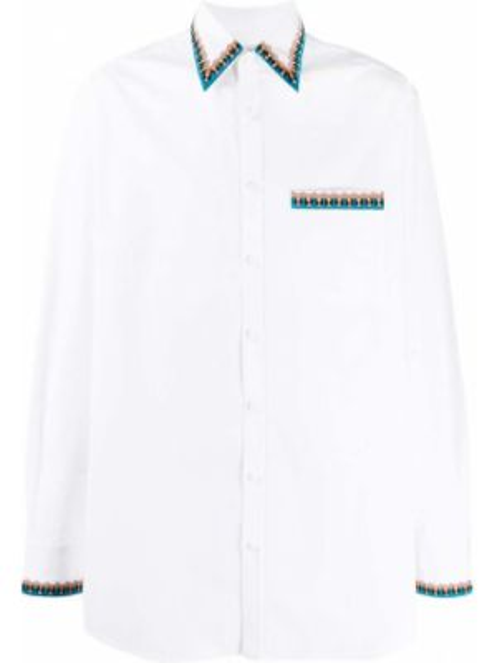 Koszula z długim rękawem długa z kołnierzem Valentino