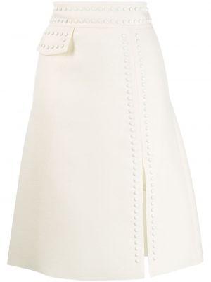 Юбка миди с завышенной талией белая Giambattista Valli