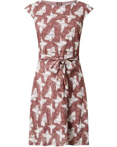 Różowa sukienka mini rozkloszowana krótki rękaw Apricot