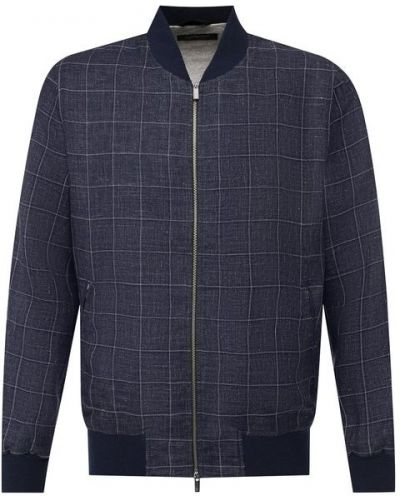 Куртка льняная темно-синяя Capobianco