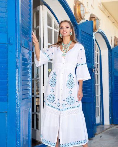 Пляжное белое платье макси свободного кроя Fresh Cotton