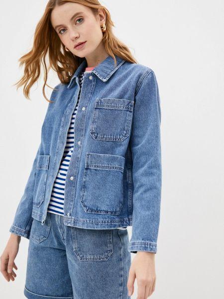 Джинсовая куртка весенняя синий Selected Femme