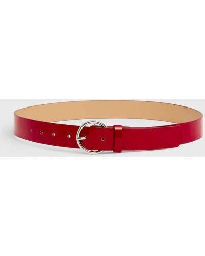 Красный ремень с декоративной отделкой Stradivarius