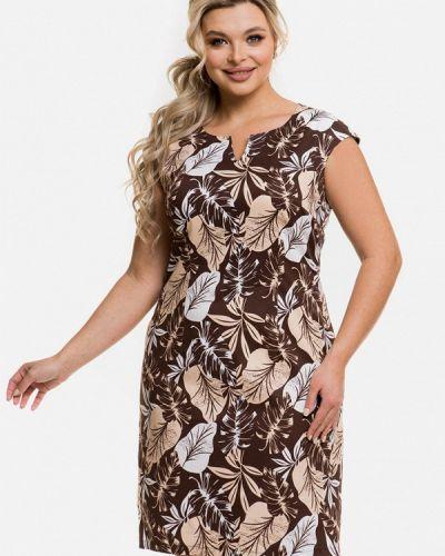 Повседневное коричневое платье Venusita