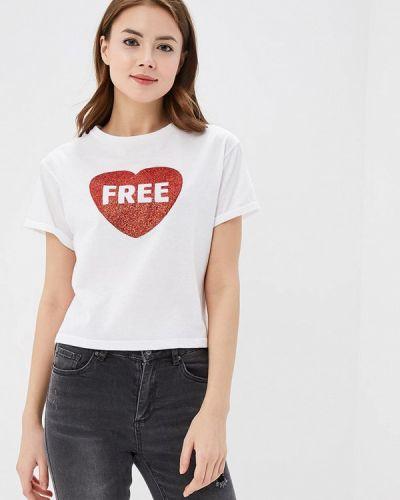 Белая футболка Jennyfer