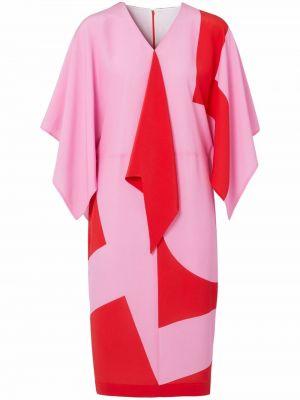 Шелковое платье - розовое Burberry