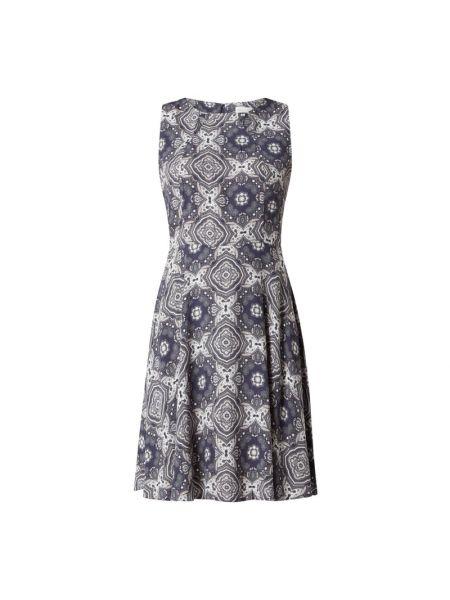 Niebieska sukienka rozkloszowana z wiskozy Apricot