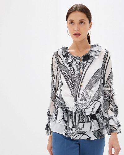 Блузка с рюшами белая Lusio