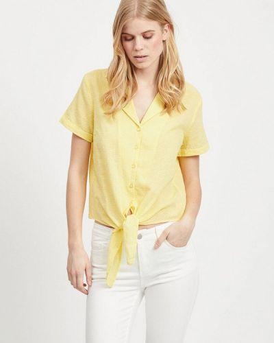 Блузка с коротким рукавом индийский желтый Vila