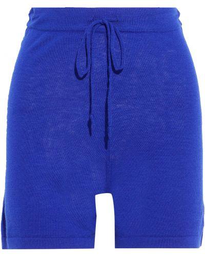 Кашемировые шорты - синие Autumn Cashmere