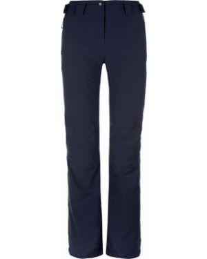 Прямые синие теплые брюки на молнии Salomon