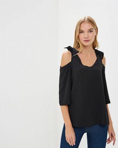 Черная блузка с длинными рукавами Dorothy Perkins