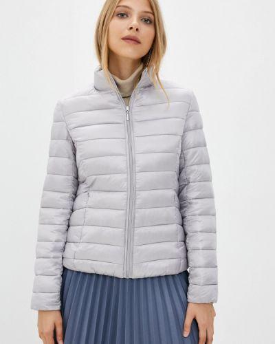 Теплая серая утепленная куртка снежная королева