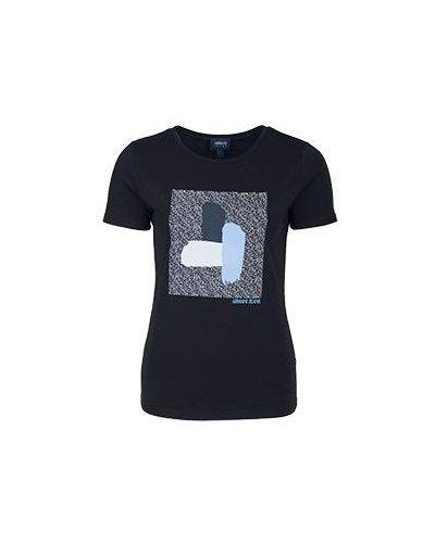 Черная футболка приталенная Armani Jeans