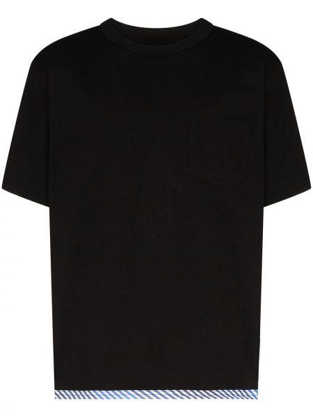 Хлопковая черная футболка Sophnet.