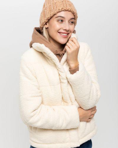 Стеганая белая короткая куртка на молнии Sela