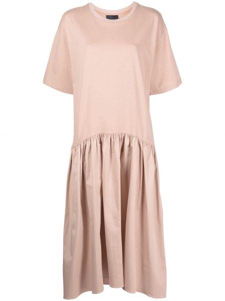 Трикотажное платье миди - розовое Cynthia Rowley