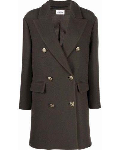 Зеленое шерстяное пальто P.a.r.o.s.h.