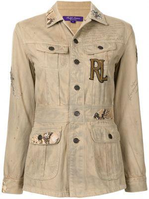 Brązowa kurtka bawełniana Ralph Lauren Collection