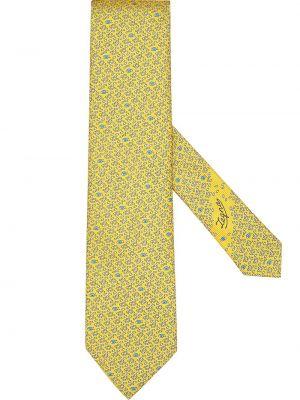 Желтая шелковая резинка для волос Ermenegildo Zegna