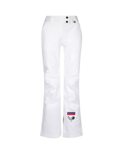 Прямые белые теплые брюки Termit