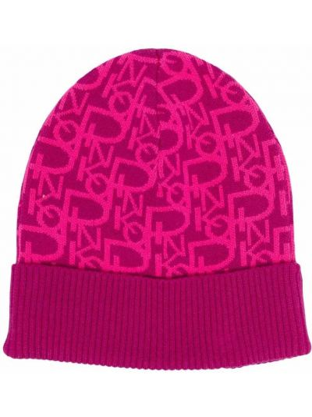 Różowa czapka bawełniana Pinko
