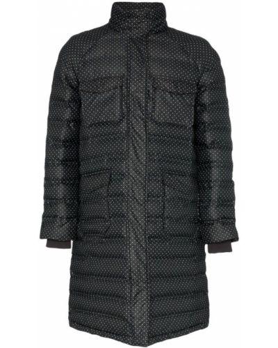 Черное длинное пальто с капюшоном Ganni