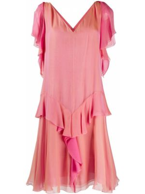 Платье розовое винтажная Chanel Pre-owned