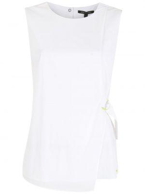 Biała bluzka bez rękawów Armani Exchange