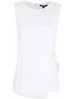 Bluzka kopertowa - biała Armani Exchange