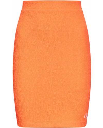 Pomarańczowa spódnica ołówkowa Calvin Klein Jeans