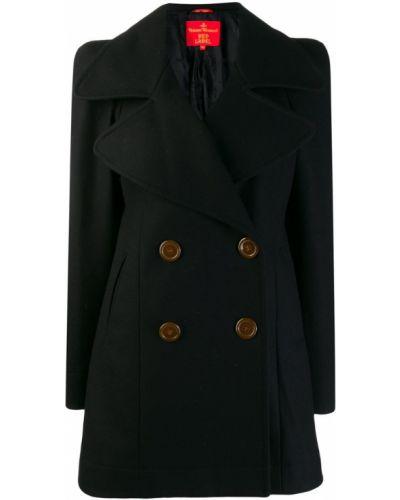 Черное пальто с капюшоном Vivienne Westwood Pre-owned