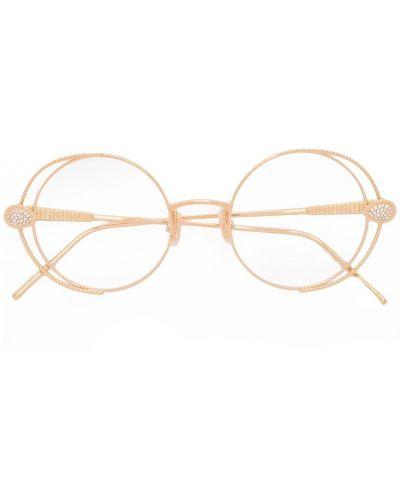 Оправа для очков металлическая золотая Boucheron Eyewear
