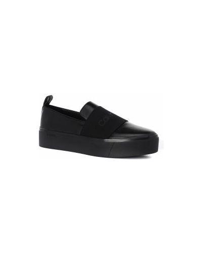 Слипоны черные Calvin Klein