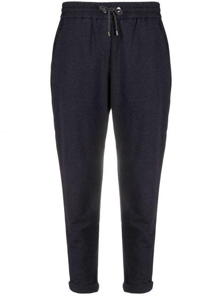 Спортивные брюки укороченные с карманами Brunello Cucinelli