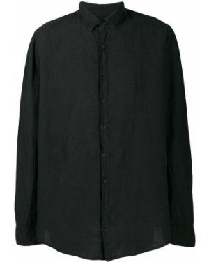 Свободная черная рубашка на пуговицах Poème Bohémien