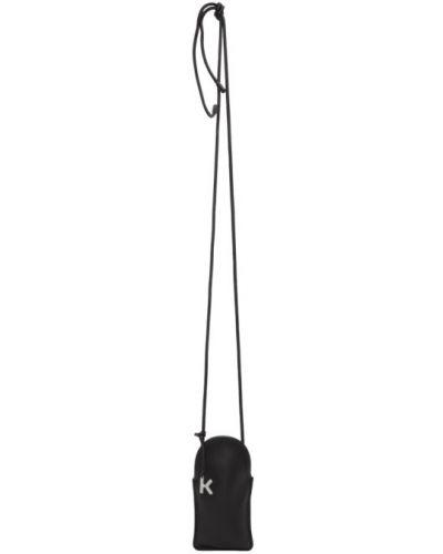 Серебряная кожаная ключница с подкладкой Kenzo