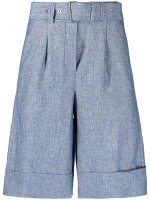Синие шорты с отворотом с поясом Peserico