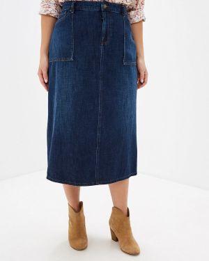 Джинсовая юбка синяя Lauren Ralph Lauren Woman