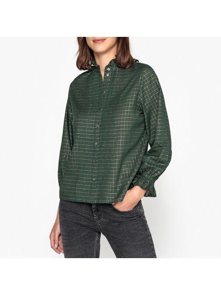 Рубашка в клетку - зеленая Soeur