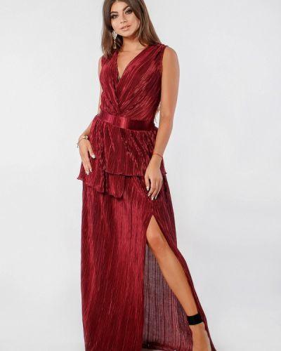 Вечернее платье осеннее красный Margo