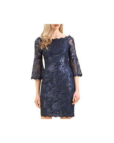Коктейльное платье синее Luisa Spagnoli