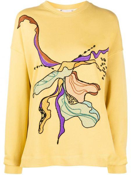 Bawełna żółty bluza z wiskozy przycięte Alysi