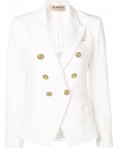 Пиджак двубортный белый Blanca