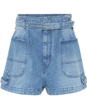 Джинсовые шорты с завышенной талией Isabel Marant