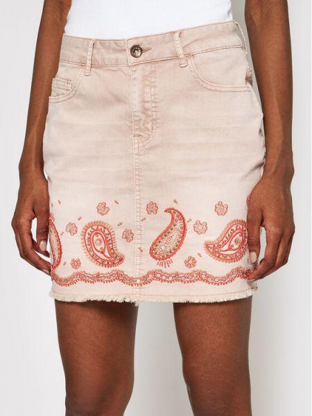 Spódnica jeansowa - różowa Desigual