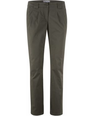 Оливковые классические брюки стрейч скинни Bonprix